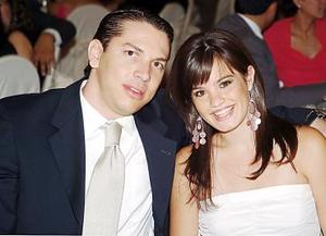 <b>13 de julio</b><p>  Alfonso Morales y Mayté Núñez Pruneda.