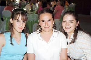 Raquel de la Parra, Elena Iduñante y Éricka Flores.