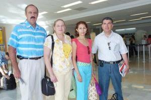 Francisco y Paty Díaz y Germán y Rocío Rodríguez viajaron a la Riviera Maya.