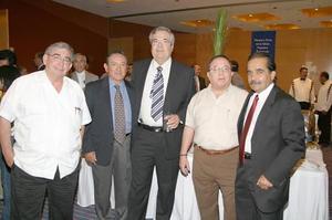 Alfonso Arizpe, Jesús de Lara, Arturo Gallegos, Alejandro Gurza y César del Bosque.