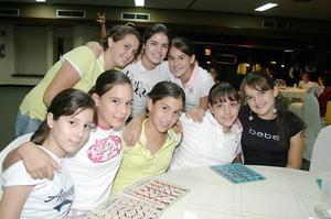 Titi Sambuci, María Larriñaga, Mariana Casas, María Martha Cisneros, Fabiola Arriaga, Arely Nahle, Karime Silveyra y María Cuéllar.