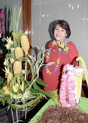 Susana Rodríguez de Vargas disfrutó de una fiesta de canastilla, que le ofreció hace unos días un grupo de amigas.