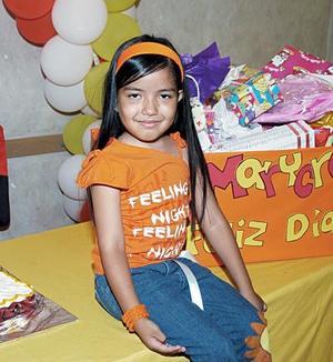 Marycruz Ibarra Rosales recibió bonitos regalos, en la fiesta que le prepararon sus papás por sus seis años de vida.