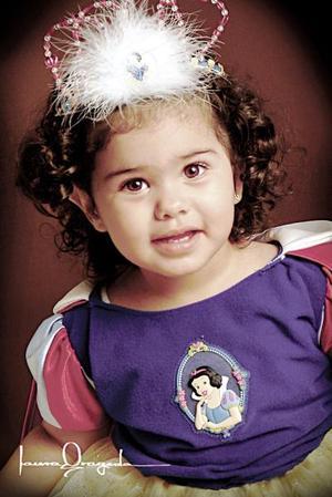 Karime Alely Preciado Serrano, en una foto de estudio con motivo de su segundo cumpleaños celebrado el pasado diez de julio.