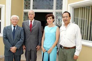 Francisco Ledesma, Germán González Navarro, Socorro Lazaga y Carlos Pérez Arrezola.