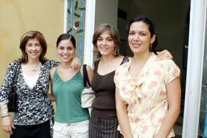 Leticia Ávila de González, Sory Garza, Sory Mexsen de Garza y Rocío Hernández de Sánchez.