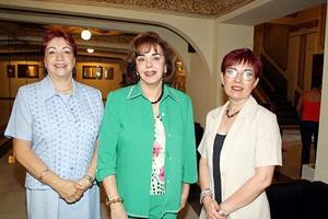 María Estela Bustamante, Graciela López Mercado y Laura Mena Treviño.
