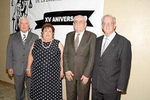 Jesús  Sotomayor, Bernardo Estavillo, Gloria González y José Fuentes.