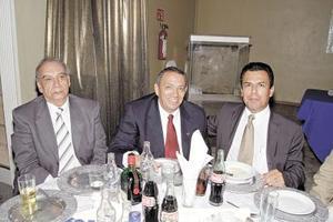 <b>17 de julio 2005</b><p> Octavio Augusto Enríquez, Carlos García y José Luis Morán.