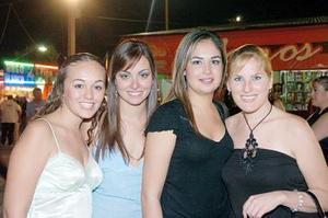 Ella de la Garza, Martha Jaidar, Sonia García y Samanta Cantú.