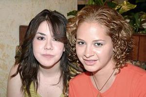 <b>19 de julio 2005</b><p>  Tanya Hernández y Azuzena Alvarado.