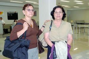 Elsa de Contreras y María Luisa de Bracho viajaron al DF.
