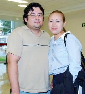 Argentina Martínez y Wilfredo Rodríguez viajaron con destino al DF.