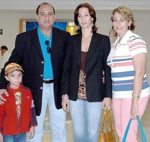 Francisco y Miguel Arrañaga, Alicia Fernández y Alicia Macías.