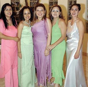Georgina Castaños, Carmen Orona, Wendy Pacheco, Juana Inés Chávez y María Inés Garza.