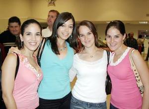 <b>23 de julio 2005</b><p> Elisa Yáñez, Selina Viesca, María Enríquez y Bárbara Willy.