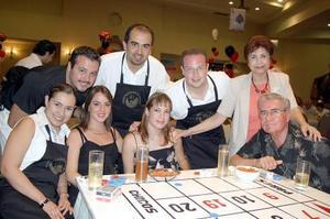 Lizeth de Solís, Sofía de Marcos, Claudia de Pérez, Carlos González, Hortencia de González, Rodrigo Pérez, Bruno Solís y Jorge Marcos.