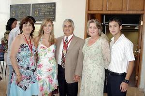 <b>26 de julio 2005</b><p> Patricia Garza, Selina Rodríguez, Ismael Rodríguez, Patricia e Ismael Rodríguez.