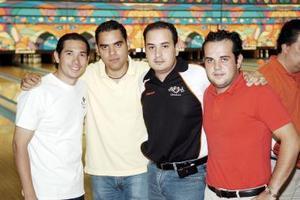 Alejandro Pámanes, Carlos Villarreal, Ismael Cepeda y Eduardo Flores.