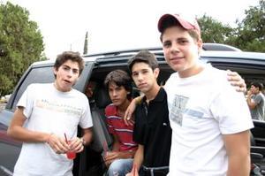 Paco Gutiérrez, Octavio González, Josh Algara y Ángel Gómez.