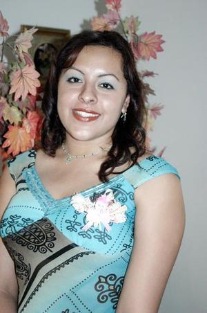 Olga Lidia Castro, en su fiesta de despedida de soltera.