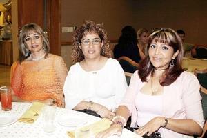 María de los Ángeles Mijares, Beatriz Cruz y Laura Barrientos.
