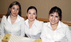 Lupita Sánchez, Claudia Escobedo y Érika Chávez.