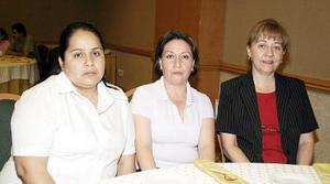 Lidia Gutiérrez, Daniela Martínez y Jessika Ortiz.