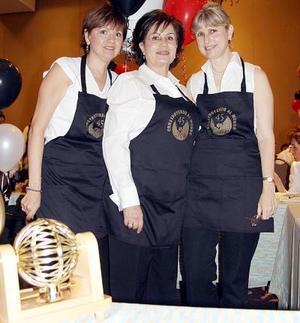 Gaby de García, Alma Rosa de Campos y Laura Berlanga.