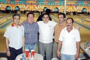 Arturo Herrera Zorrilla, Víctor Hayakawa, Carlos Treviño, Lustacio Ruiz y Francisco Pesqueira.