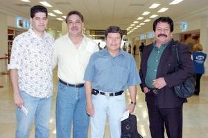 Jesús Macías, Carlos Ríos, Abel Macías y Ulises Canales viajaron a Tijuana.