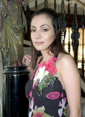 María Laura Puente Méndez, captada en su despedida de soltera.