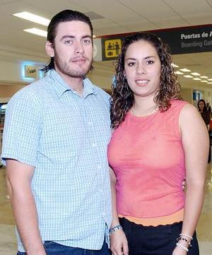 Julio Reyes y Daniela Ornelas viajaron a Tijuana.