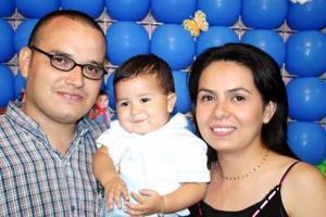 Con motivo de su primer año, el pequeño Alex Araujo Silerio fue festejado con un convivio por sus papás