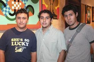 Moisés Martínez, Ismael Rivera y Ricardo Castor