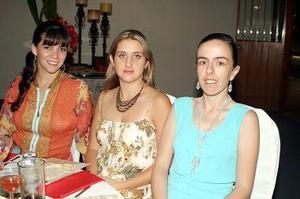 <b>31 de julio 2005</b><p> Yasmín de Calleja, Lucy de Gómez y Miriam de Treviño