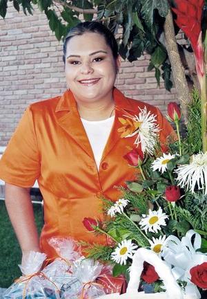 Delia del Socorro Cabral Gómez, captada en la despedida que le organizaron