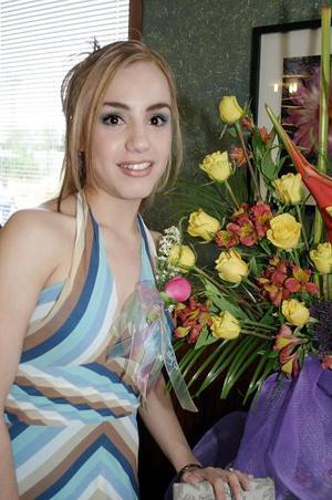 Por su próxima boda, celebró una fiesta de despedida Adriana Rodríguez.