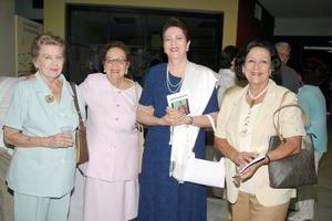 Ana Graham, Mercedes Díaz Rivera, Rosario de la Garza y María Luisa Wong Sánchez.