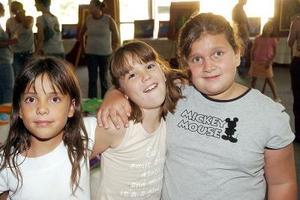 Frida Aguirre, Camila Borbolla y Alejandra Martínez.
