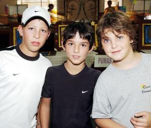Ricardo González, Mauricio Casas y Fernando Mafud.