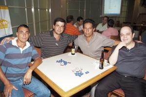 Alejandro Hoyos, Manolo Zorrilla, Emilio Sánchez y Héctor Diéguez