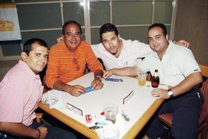 Jorge Córdova, Rafa Pelayo, Jorge Ávalos y Ricardo Villalobos.