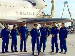 La agencia dijo que el siguiente lanzamiento de un transbordador sería el 22 de septiembre.
