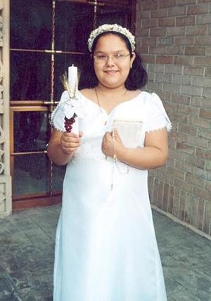 Carolina García Peralta, captada el día de su Primera Comunión.