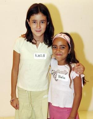 Karla López Hernández y Nadia Chamut Torre.