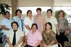 Alicia Lloverino, Maury García, Cristy Velásquez, Socorro de Luna, Cecilia Ávila, Anabella Betts, Carmen Zarzosa, Adela Castañeda e Irene Carreón.