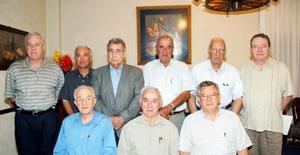 Tomás López Alonso, Arsenio González, Miguel Urtiaga, Jesús Fernández, Julio González, Alfredo González, Juan José Fernández, Manuel Rodríguez y Bernardo Martínez.