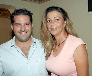 Marco Stefania y Begoña López Calvete.