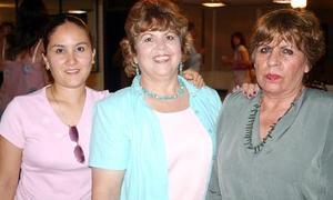 Quechu Solís de Álvarez, Rosaura Balderas y Karina Soto Rodríguez.
